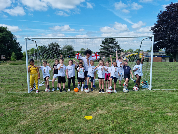 Breadsall Hill Top Primary School hosts a penalty shootout to raise money for a rare condition