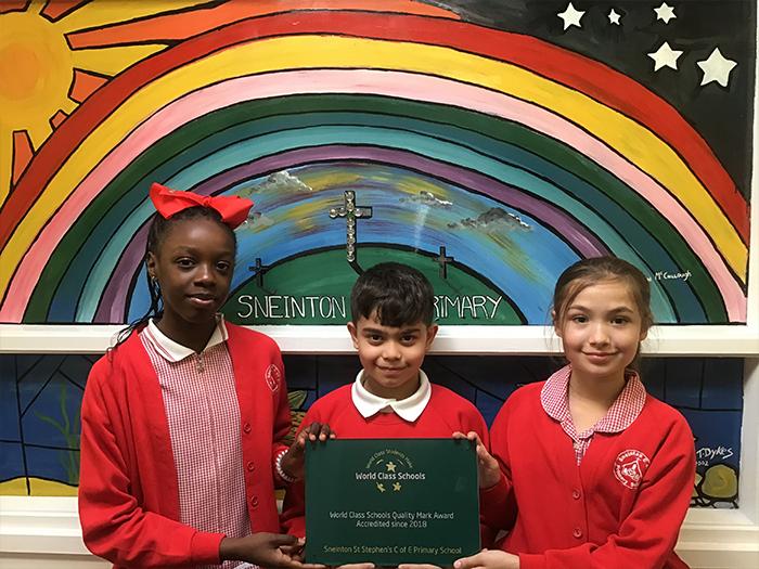 Sneinton St Stephen's CofE Primary School has achieved World Class Status